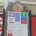 Engine 86 ride details sign